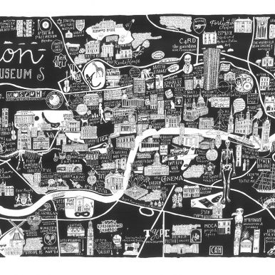 London Miscellany Of Museums Map By Caroline Harper