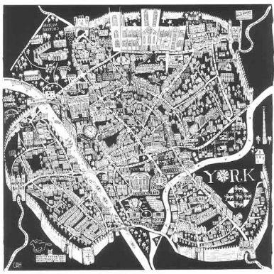 Illustrated Map Of York Map By Caroline Harper