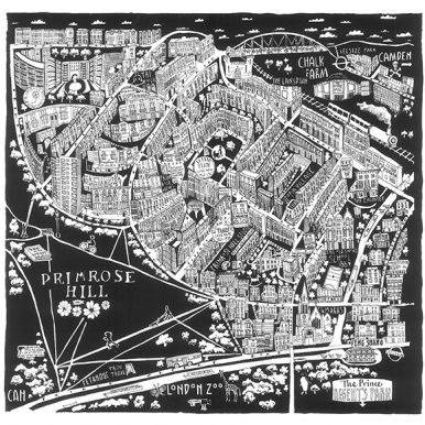 Illustrated Map Of Primrose Hill Map By Caroline Harper