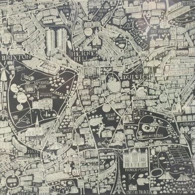Illustrated Map Of South London By Caroline Harper