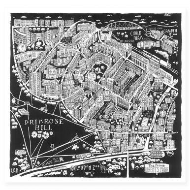 Illustrated Map Of Primrose Hill Map By Caroline Harper.jpg