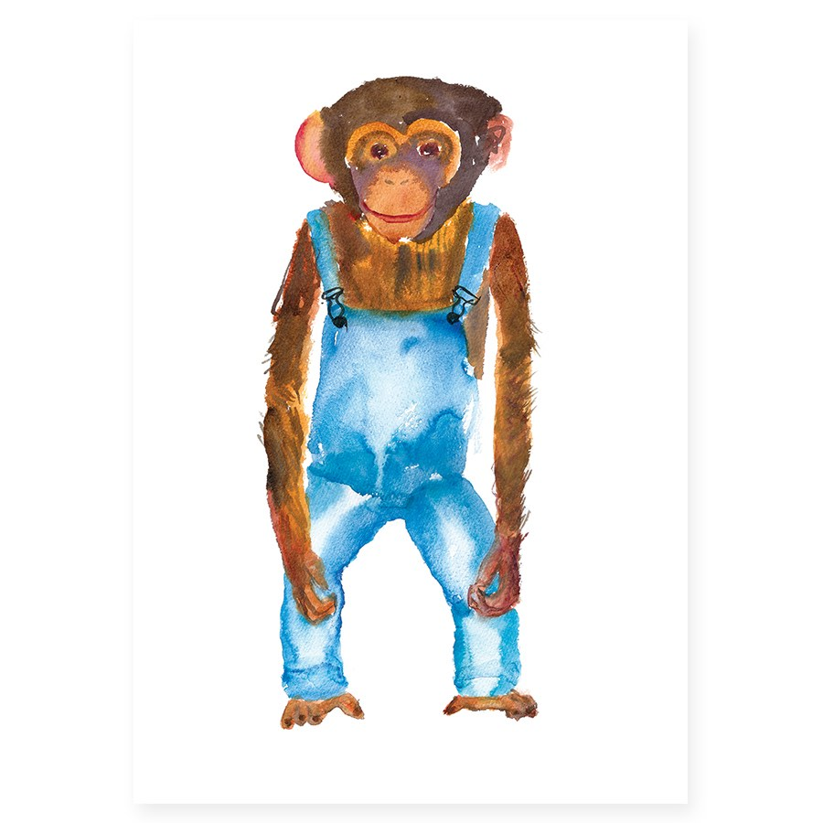 Chimp In Dungarees by Rosie Webb.jpg