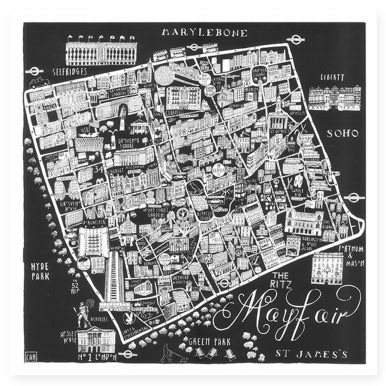 p 1220 Illustrated Map of Mayfair by Caroline Harper 386x386 - Caroline Harper