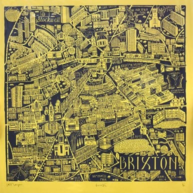 Illustrated Map Of Brixton By Caroline Harper