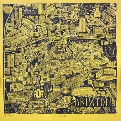 Illustrated Map Of Brixton By Caroline Harper