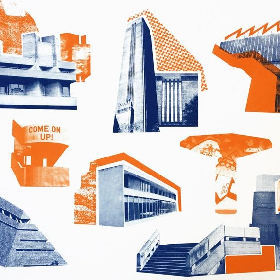 UWS Southbank Icons 1 e1541610668724 - Southbank Icons (Blue and Orange) by Underway Studio
