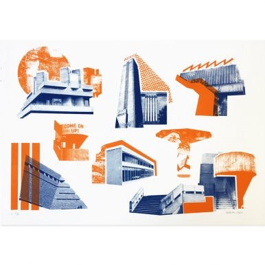 Southbank Icons (Blue And Orange) By Underway Studio