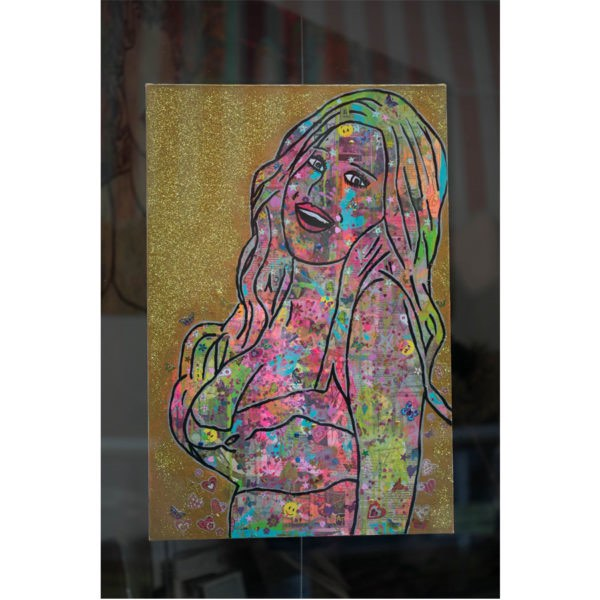 BJD Graffiti girl 800 600x600 - Graffiti Girl by Barrie J Davies