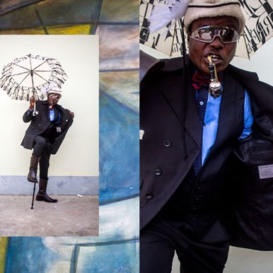Man With Pipe By Kenny Mutombo