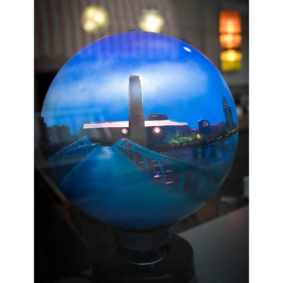 Andrew Gibson shop 3 - 4.52am Millenium Bridge Globe by Andrew Gibson