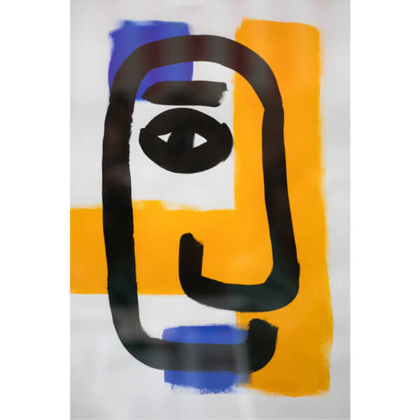 Andy Lester Painted Face full 600x600 - Painted Face by Andy Lester