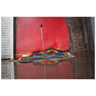 Ted Dave umbrella red 386x386 - Artist Takeover