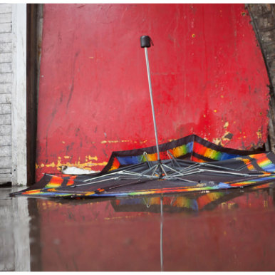 Ted Dave umbrella red crop 386x386 - Artist Takeover