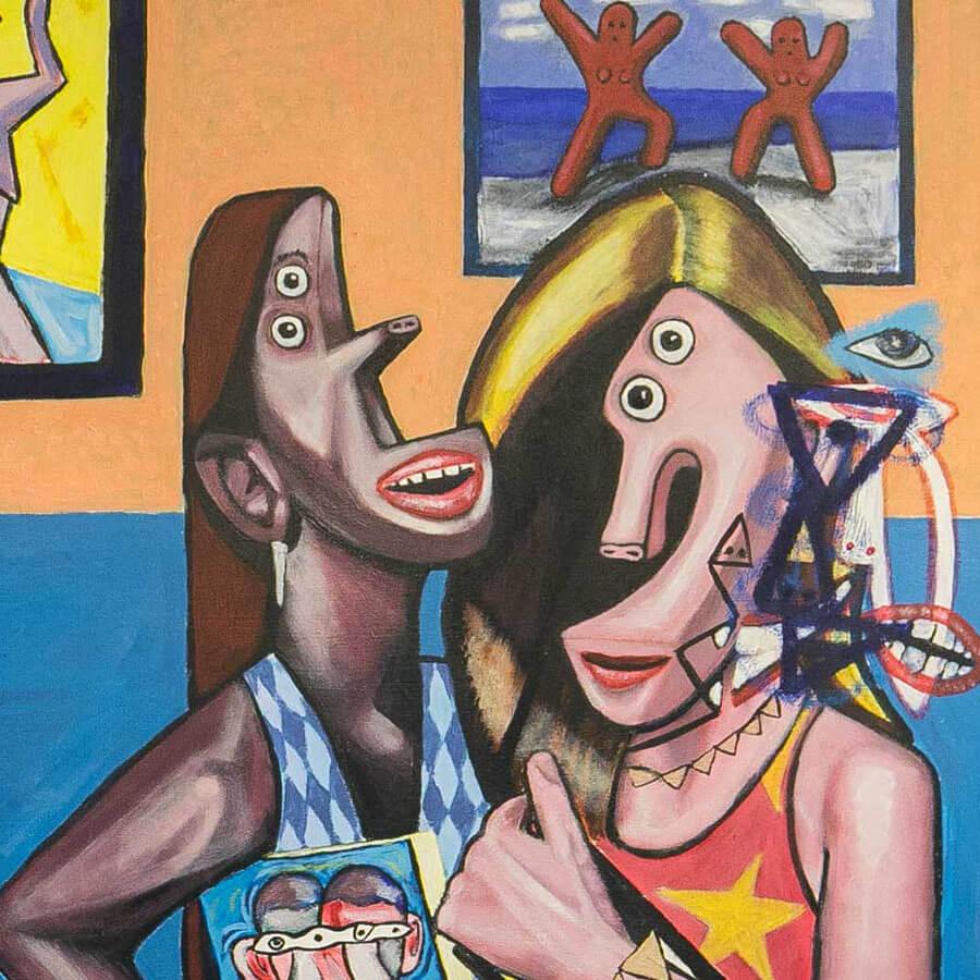 Jack art lovers crop - Art Lovers by Jack Blackburn