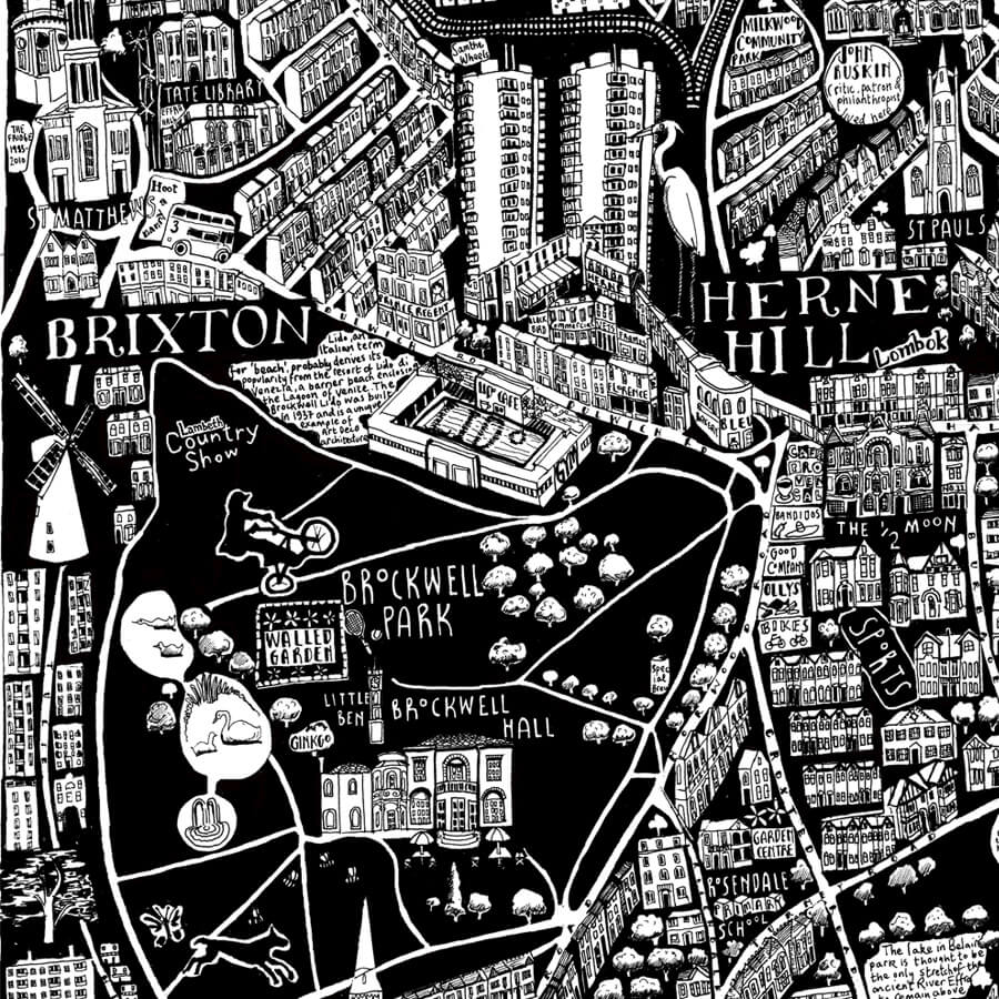 CZP South London - South London Illustrated Map by Caroline Harper