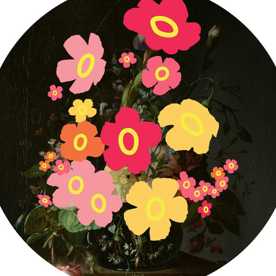 Heath wallflower crop - Wallflowers by Heath Kane