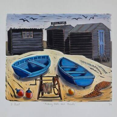 Fishing Huts And Boats By Denise Bunt