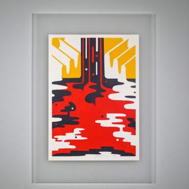 Cascade (Red) By Rikki Hewitt