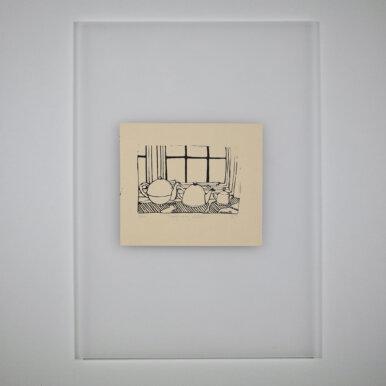 Teapots On My Windowsill By Eleanor Suggett