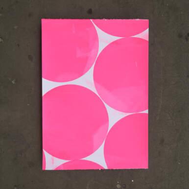 Pink Circles By Katy Binks